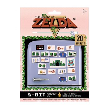 The Legend of Zelda pack aimants Retro