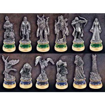 Le Seigneur des Anneaux set de pièces de jeu d´échecs Les Deux Tours