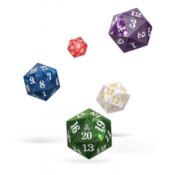 Oakie Doakie Dice set dés Spindown D20 Marble (5)