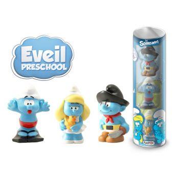Les Schtroumpfs tubo 3 figurines Preschool 10 cm
