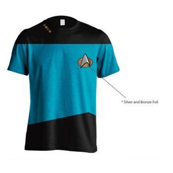 Star Trek T-Shirt Uniform Blue