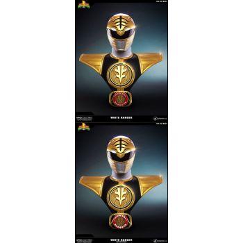 Power Rangers bustes 1/1 White Ranger & White Ranger PCS Exclusive Set 63 cm