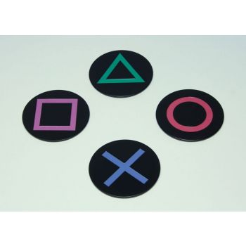 PlayStation pack 4 sous-verres Icons