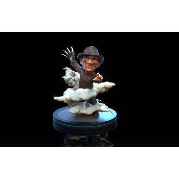 Nightmare On Elm Street figurine Q-Fig Freddy Krueger 10 cm --- EMBALLAGE ENDOMMAGE