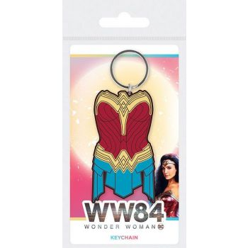 Wonder Woman 1984  assortment porte-clés caoutchouc Amazonian Armor 6 cm (10)