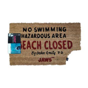 Les Dents de la mer paillasson Beach Closed 43 x 72 cm
