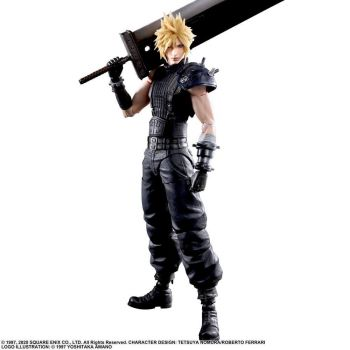 Final Fantasy VII Remake Play Arts Kai figurine Cloud Strife Ver. 2 27 cm --- EMBALLAGE ENDOMMAGE