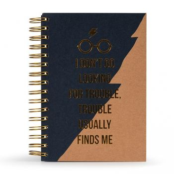 Harry Potter carnet de notes Premium A5 Trouble Usually Finds Me
