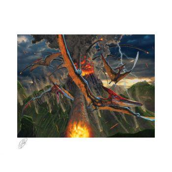 Original Artist Series impression Art Print Eruption by Vincent Hie 41 x 51 cm - non encadrée