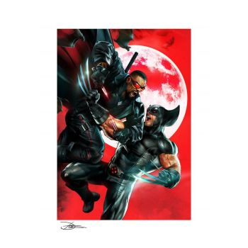 Marvel impression Art Print Wolverine vs Blade 46 x 61 cm - non encadrée