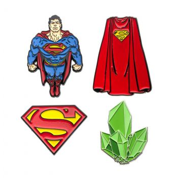 DC Comics pack 4 badges Superman