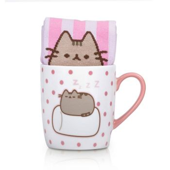 Pusheen mug avec paire de chaussettes Marshmallow