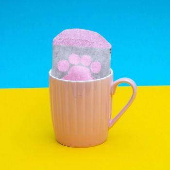 Pusheen mug avec paire de chaussettes Pink Cupcake