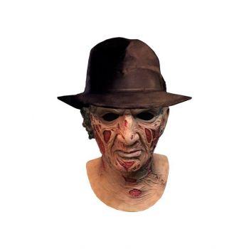 Les Griffes de la Nuit masque latex Deluxe avec chapeau Freddy Krueger