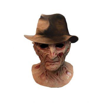 Le Cauchemar de Freddy masque latex Deluxe avec chapeau Freddy Krueger