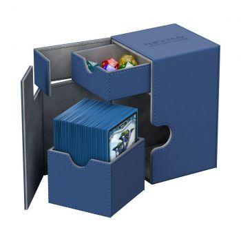 Ultimate Guard boîte pour cartes Flip´n´Tray Deck Case 100+ taille standard XenoSkin Bleu