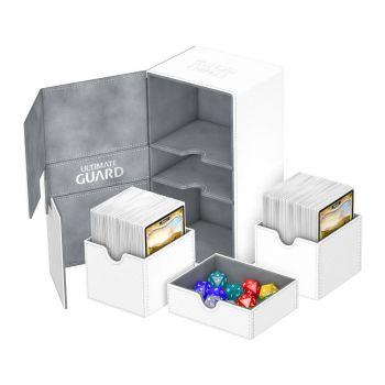 Ultimate Guard boîte pour cartes Twin Flip´n´Tray Deck Case 200+ taille standard XenoSkin Blanc