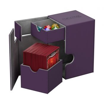 Ultimate Guard boîte pour cartes Flip´n´Tray Deck Case 100+ taille standard XenoSkin Violet