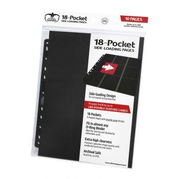 Ultimate Guard 18-Pocket Pages Side-Loading Noir (10)