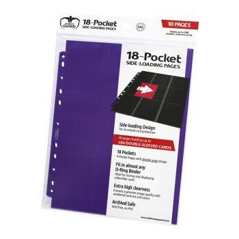 Ultimate Guard 18-Pocket Pages Side-Loading Violet (10)