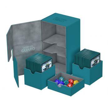 Ultimate Guard Twin Flip´n´Tray Deck Case 200+ taille standard XenoSkin™ Pétrole