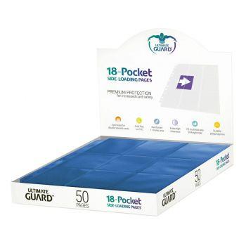 Ultimate Guard 18-Pocket Pages Side-Loading Bleu (50)