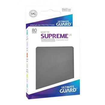 Ultimate Guard 80 pochettes Supreme UX Sleeves taille standard Gris Foncé Mat