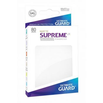 Ultimate Guard 80 pochettes Supreme UX Sleeves taille standard Blanc Mat