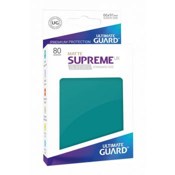 Ultimate Guard 80 pochettes Supreme UX Sleeves taille standard Bleu Pétrole Mat