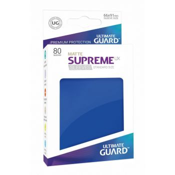 Ultimate Guard 80 pochettes Supreme UX Sleeves taille standard Bleu Mat
