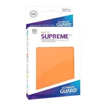 Ultimate Guard 80 pochettes Supreme UX Sleeves taille standard Orange Mat