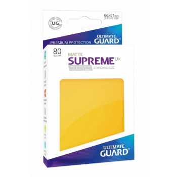 Ultimate Guard 80 pochettes Supreme UX Sleeves taille standard Jaune Mat