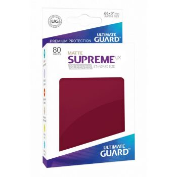 Ultimate Guard 80 pochettes Supreme UX Sleeves taille standard Bourgogne Mat