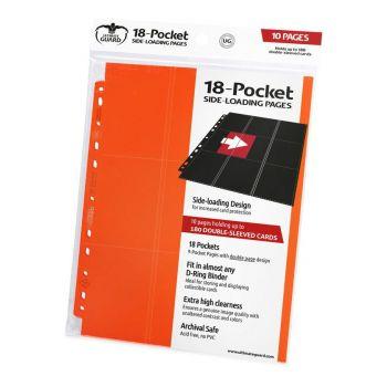 Ultimate Guard 18-Pocket Pages Side-Loading Orange (10)