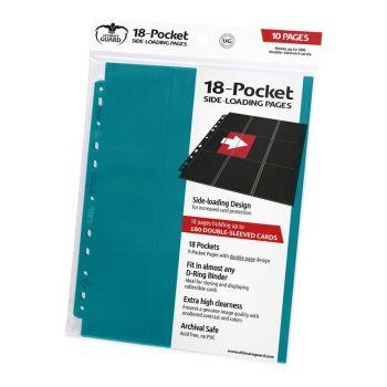 Ultimate Guard 18-Pocket Pages Side-Loading Bleu Pétrole (10)