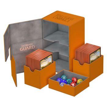 Ultimate Guard Twin Flip´n´Tray Deck Case 160+ taille standard XenoSkin™ Orange