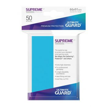 Ultimate Guard 50 pochettes Supreme UX Sleeves taille standard Bleu Clair
