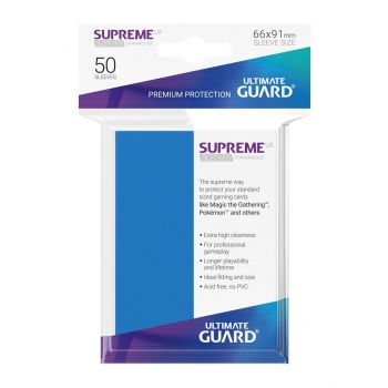 Ultimate Guard 50 pochettes Supreme UX Sleeves taille standard Bleu Roi