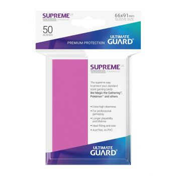 Ultimate Guard 50 pochettes Supreme UX Sleeves taille standard Rose