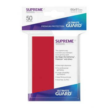 Ultimate Guard 50 pochettes Supreme UX Sleeves taille standard Rouge