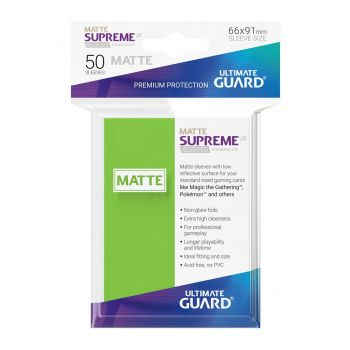 Ultimate Guard 50 pochettes Supreme UX Sleeves taille standard Vert Clair Mat