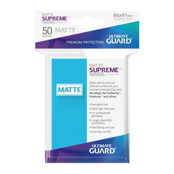 Ultimate Guard 50 pochettes Supreme UX Sleeves taille standard Bleu Clair Mat