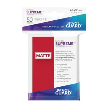 Ultimate Guard 50 pochettes Supreme UX Sleeves taille standard Rouge Mat