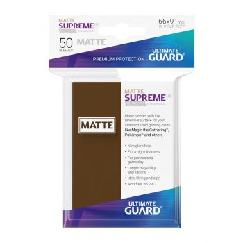Ultimate Guard 50 pochettes Supreme UX Sleeves taille standard Marron Mat