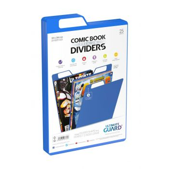 Ultimate Guard 25 intercalaires pour Comics Premium Comic Book Dividers Bleu