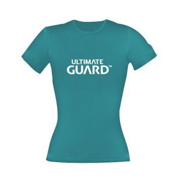 Ultimate Guard T-Shirt femme Wordmark Bleu Pétrole
