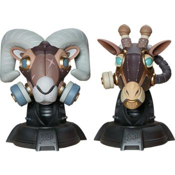 Unruly Designer Series bustes Ram and Giraffe Guerilla Squadron Set by Freehand Profit 23 cm