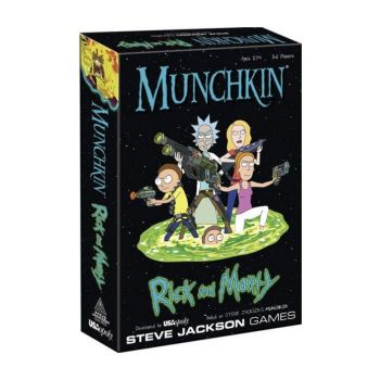 Munchkin jeu de cartes Rick et Morty *ANGLAIS* --- EMBALLAGE ENDOMMAGE