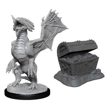 D&D Nolzur's Marvelous Miniatures packs miniatures à peindre Bronze Dragon Wyrmling & Treasure (6)