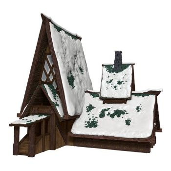 D&D Icons of the Realms Icewind Dale : Rime of the Frostmaiden set Papercraft The Lodge